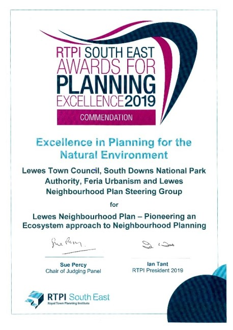 Lewes Neighbourhood Plan wins prestigious Award
