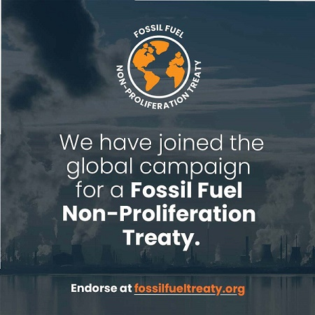 We are fighting fossil fuels!